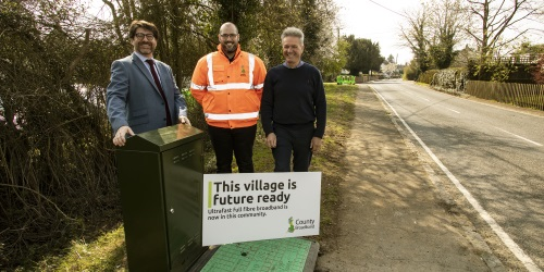 Work begins to connect Cornish Hall End to County Broadband's full fibre ultrafast network