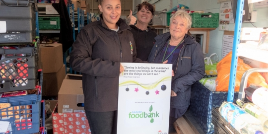 County Broadband raises over £1,000 and donates vital food parcels to Colchester Foodbank